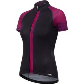 Santini Giada Koszulka kolarska, krótki rękaw Kobiety fioletowy/czarny
